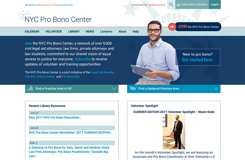 NYC Pro Bono Center site