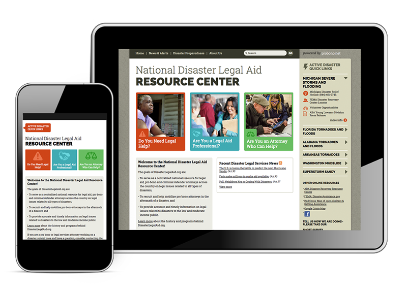 National Disaster Legal Aid website