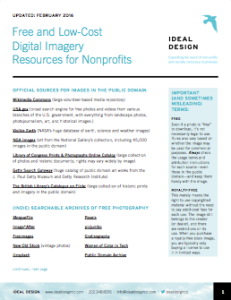 Free and Low-Cost Digital Imagery Resources for Nonprofits