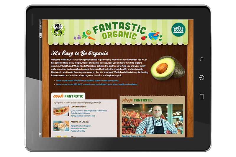 Fantastic Organic website